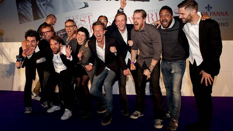 Miembros del restaurante Noma de Copenhague celebran el galardón