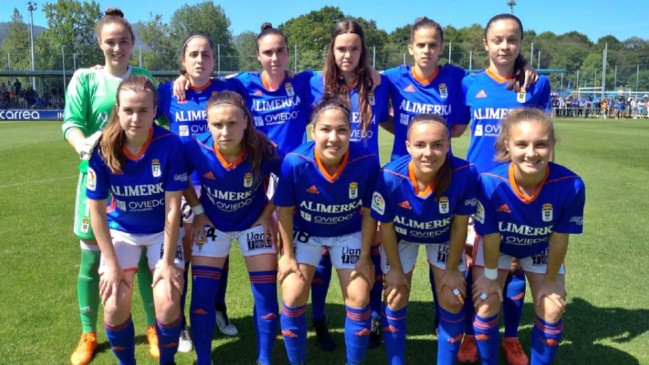 Real Oviedo Femenino Logroño Requexon.Alineacion del Real Oviedo Femenino frente al Logroño