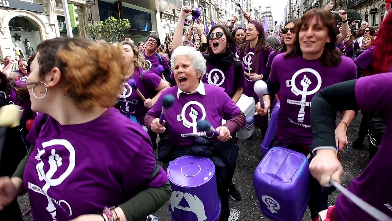 Las mujeres toman las calles de Vigo