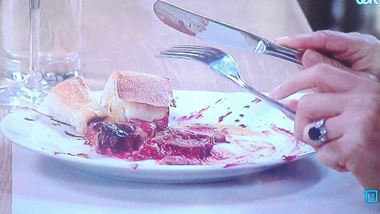 Imagen del plato cocinado en Top Chef Boston, consistente en una «fabada con cosas»