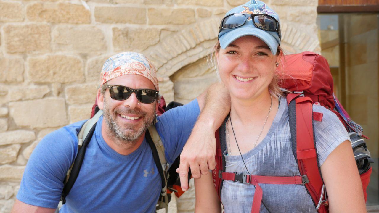 .Mike y Brianna, otros dos estadounidenses que se han apuntado a esta aventura