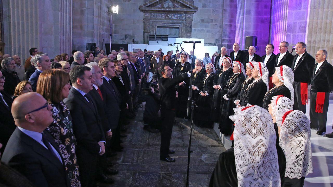 Coral de Ruada pechou o acto co himno galego