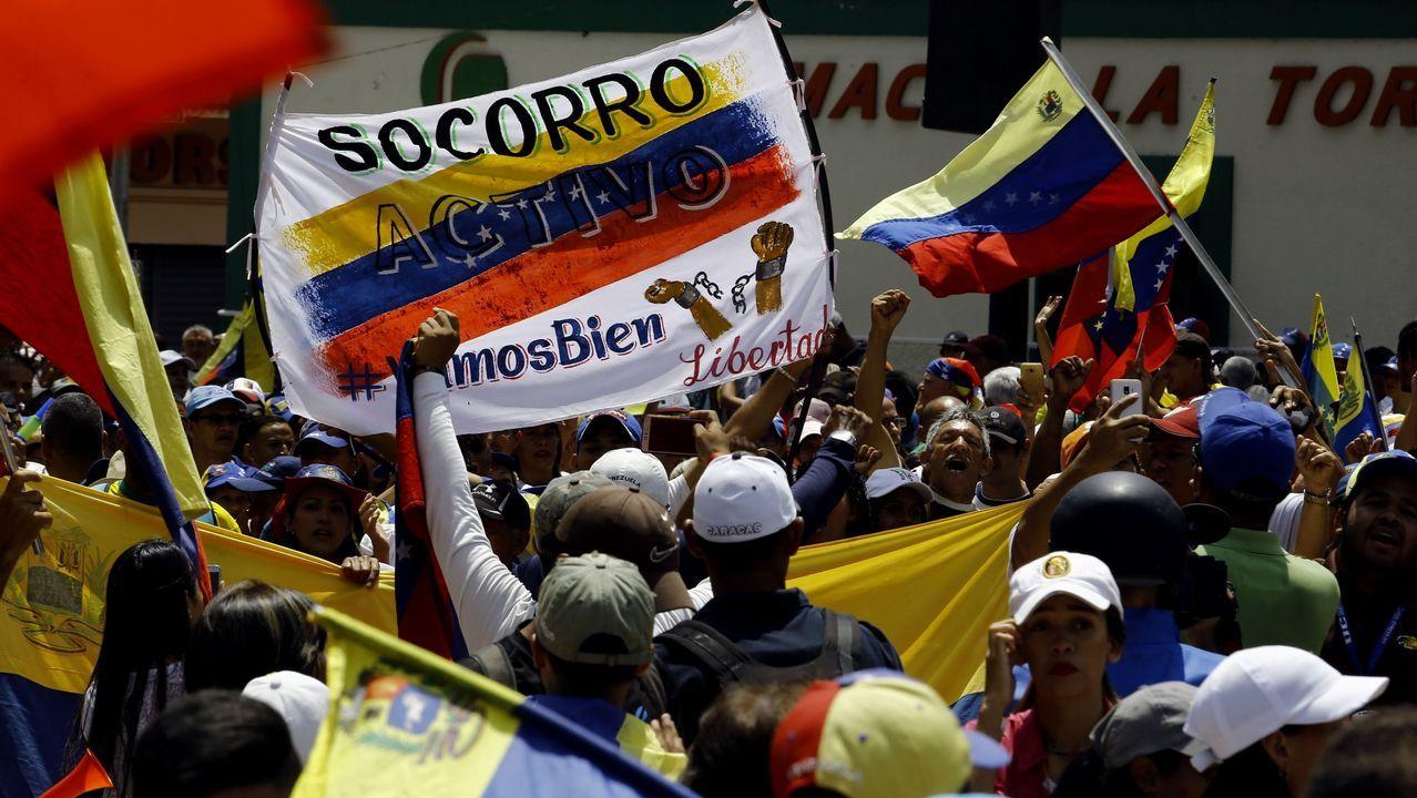 Velaquí tedes unha noticia internacional que cumpre os tres íes: o que está a acontecer en Venezuela. Na foto, unha manifestación contra o seu presidente, Nicolás Maduro