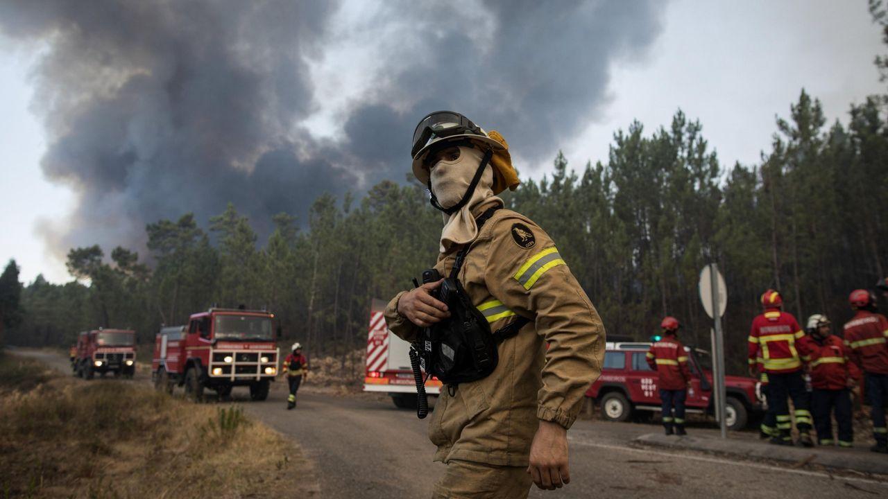 Imagen de archivo de un incendio registrado en el agosto del 2017 en Abrantes (Portugal)