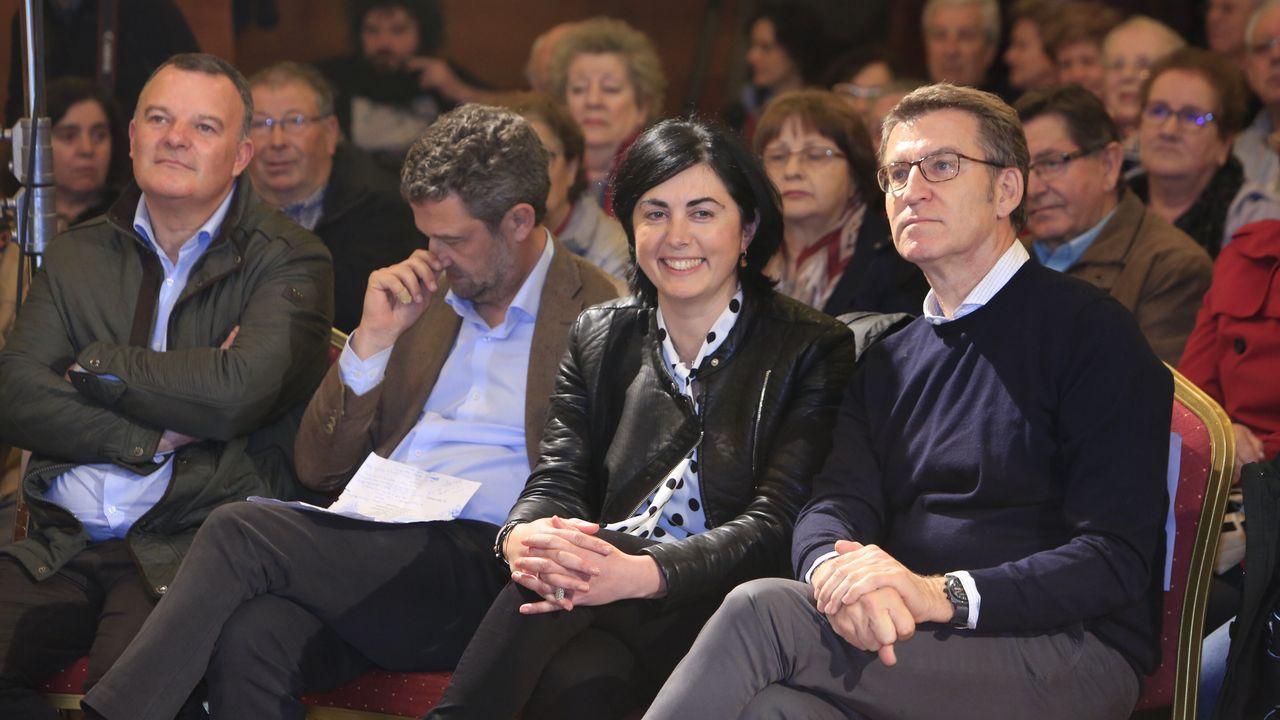 La ministra de Hacienda, con el presidente de la Xunta, el pasado verano