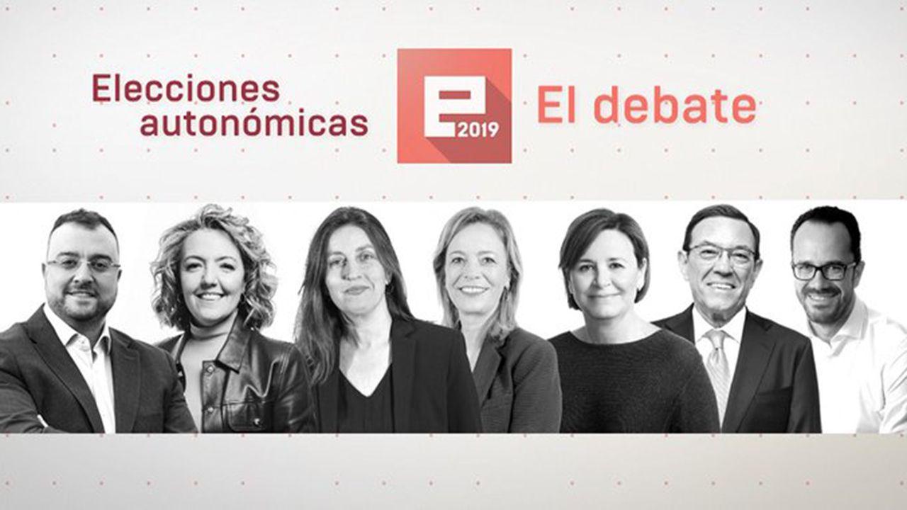 Los candidatos a la presidencia del Principado en el debate de TPA