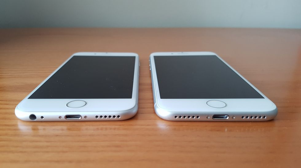 Comparamos el iPhone 7 y el iPhone 6s.
