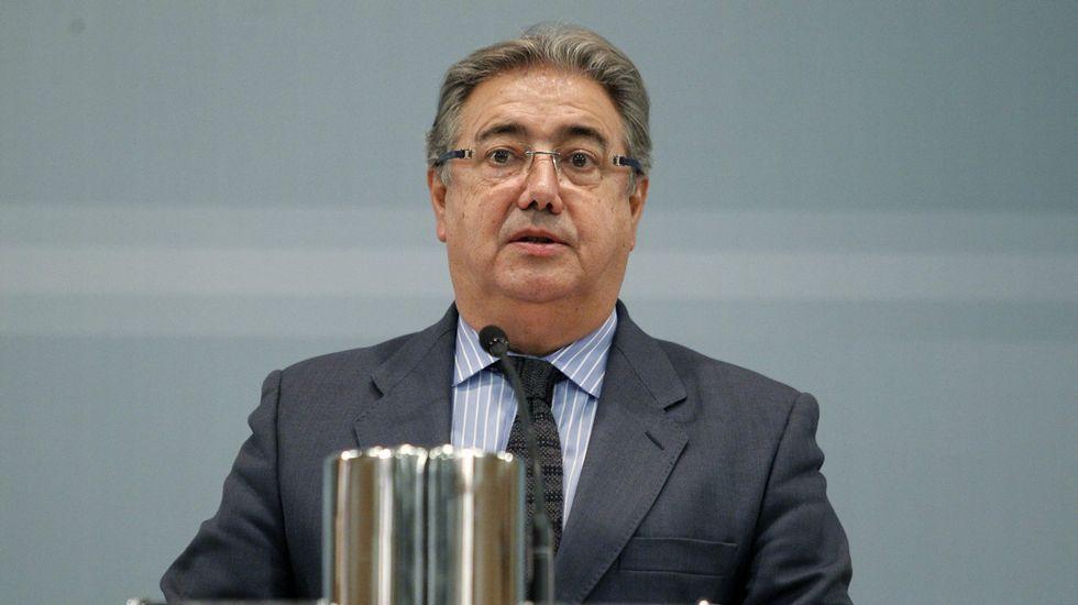 El director general de la Policía Nacional, Germán López Iglesias, durante su visita a Oviedo.Antonio Trevín
