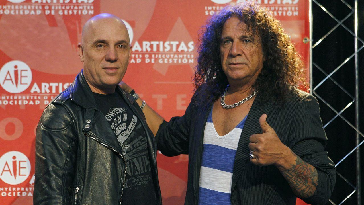.Fortu Sánchez (a la derecha), junto a su compañero de Obús Nacho Laguna
