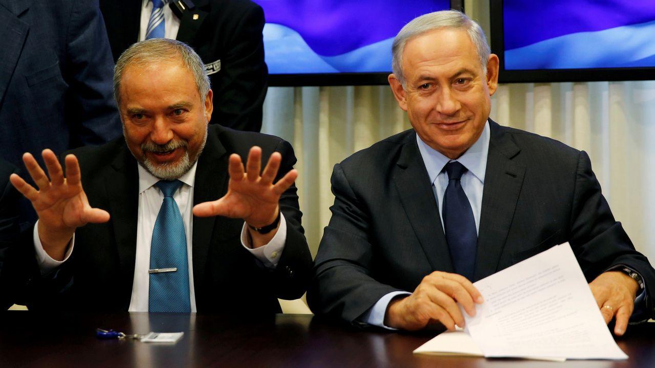 La visita de Trump a la capital británica, en imágenes.El pulso político entre Netanyahu y  Lieberman a costa de la ley que establece cuotas anuales para el reclutamiento de ultraortodoxos puede llevar a Israel a unas nuevas elecciones