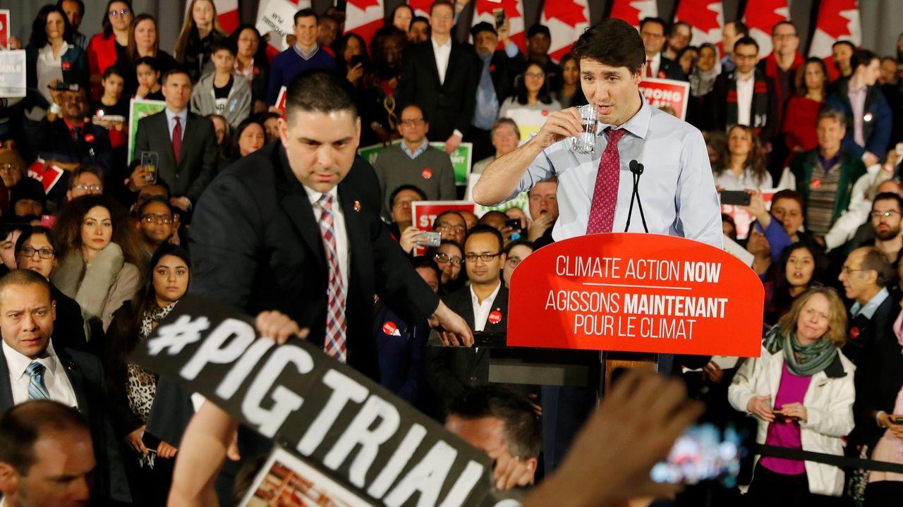 Trudeau fue objeto de críticas el pasado lunes durante un mitin en Toronto