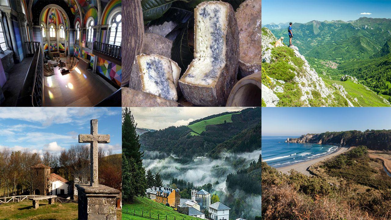 Asturias planes iglesia skate barayo virgen acebo gmonéu oscos redes collage