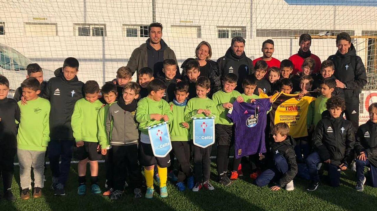 Aficionados del Celta, en un partido en Valladolid