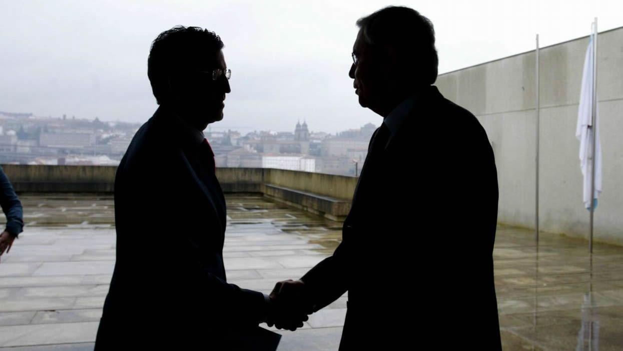 Alberto Núñez Feijoo y Emilio Pérez Touriño, en una imagen de 2006