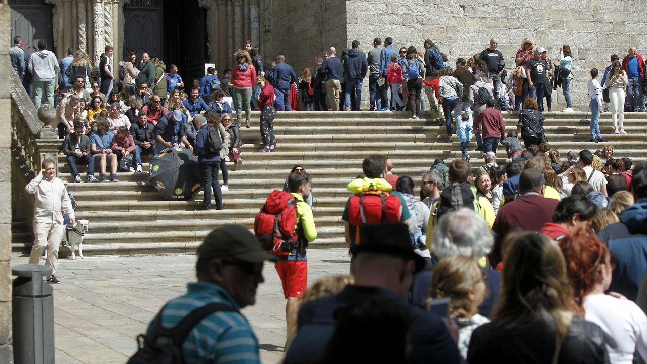 El casco histórico de Santiago, repleto de turistas