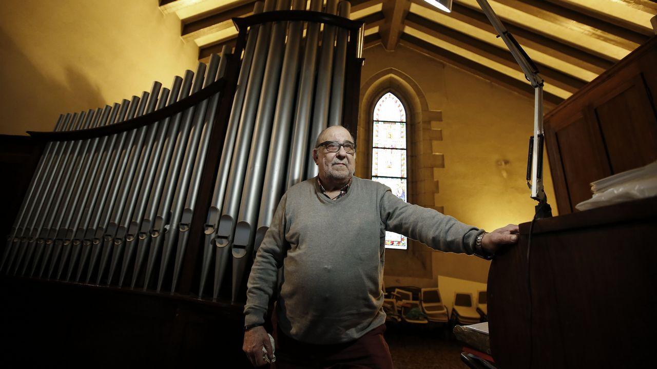 De Marruecos a A Coruña: así es el órgano de la iglesia de los franciscanos.El franciscano de origen sirio Bahjat Karakach, que está en Damasco y hablará de Siria en Padre Rubinos
