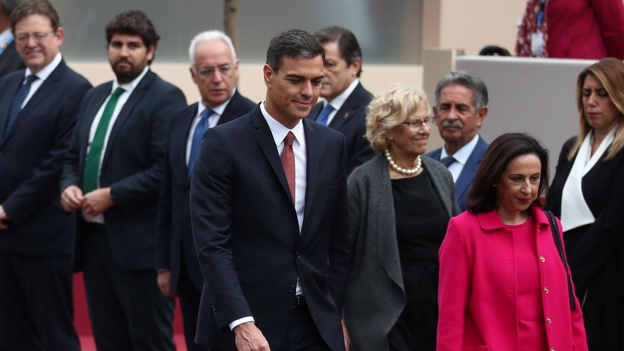 Desfile del Dia de la Fiesta Nacional: Pedro Sánchez