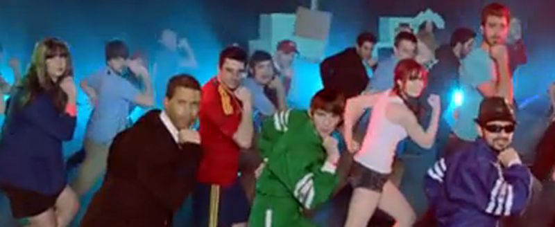 El resumen del año de YouTube.Psy interpretando su canción «Gangnam Style» en los premios MTV Europa en Fráncfort.