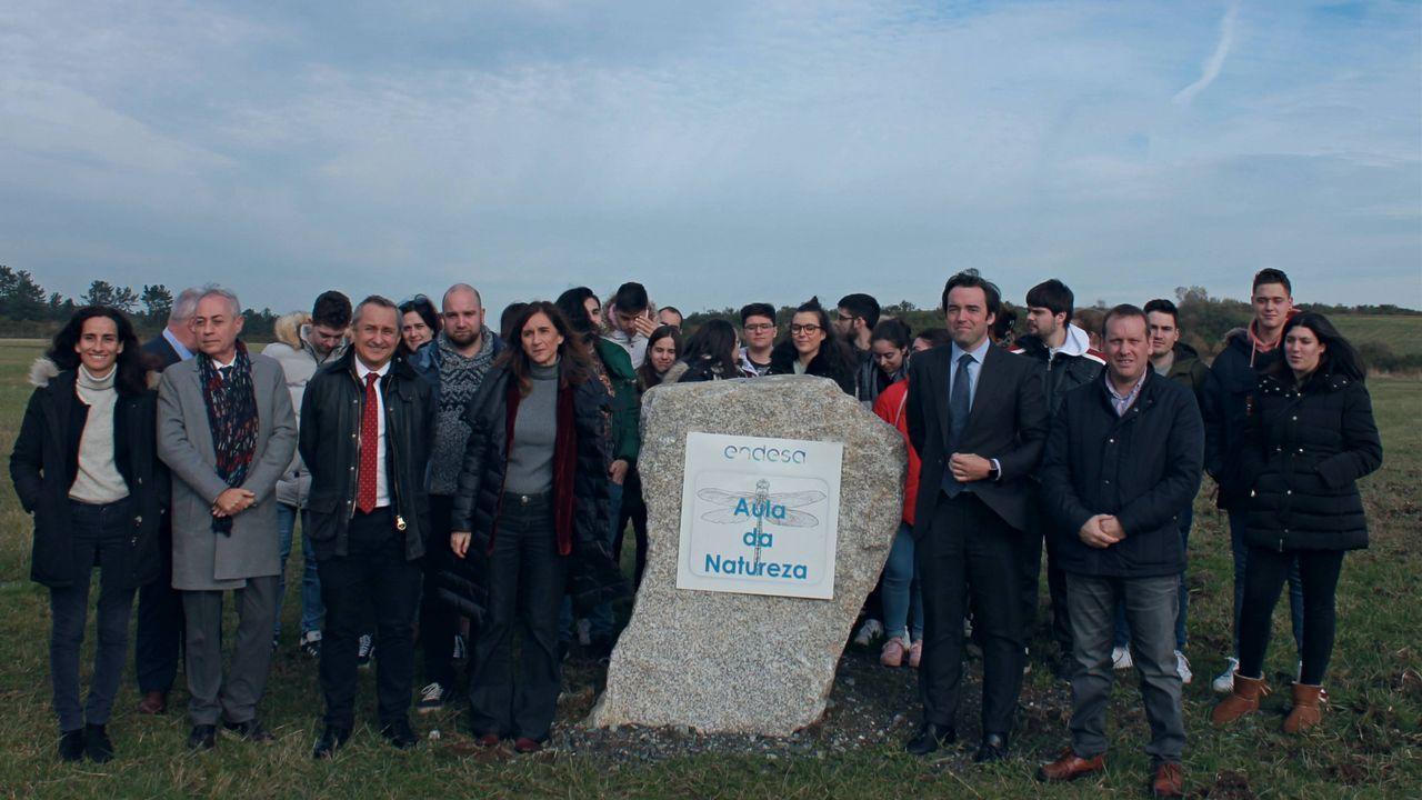 Foto del grupo que realizó la visita a As Pontes