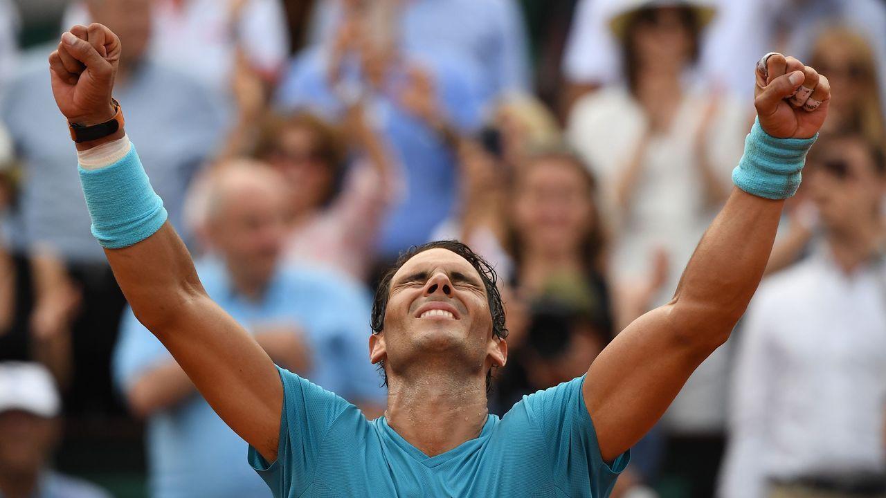 David Ferrer y Rafa Nadal en el US Open