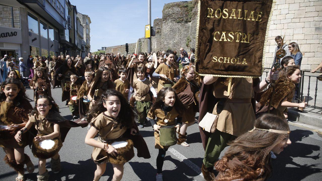 Las imágenes del desfile infantil del Arde Lucus