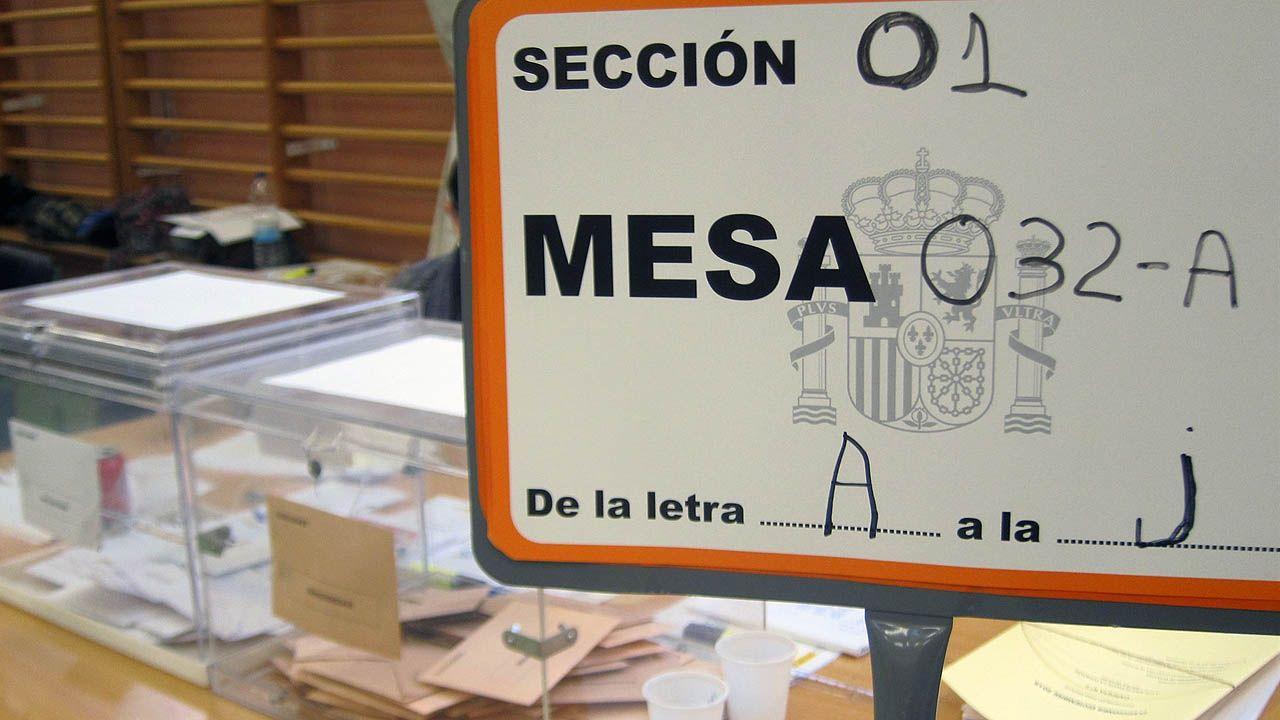 Mesa electoral.Mesa electoral
