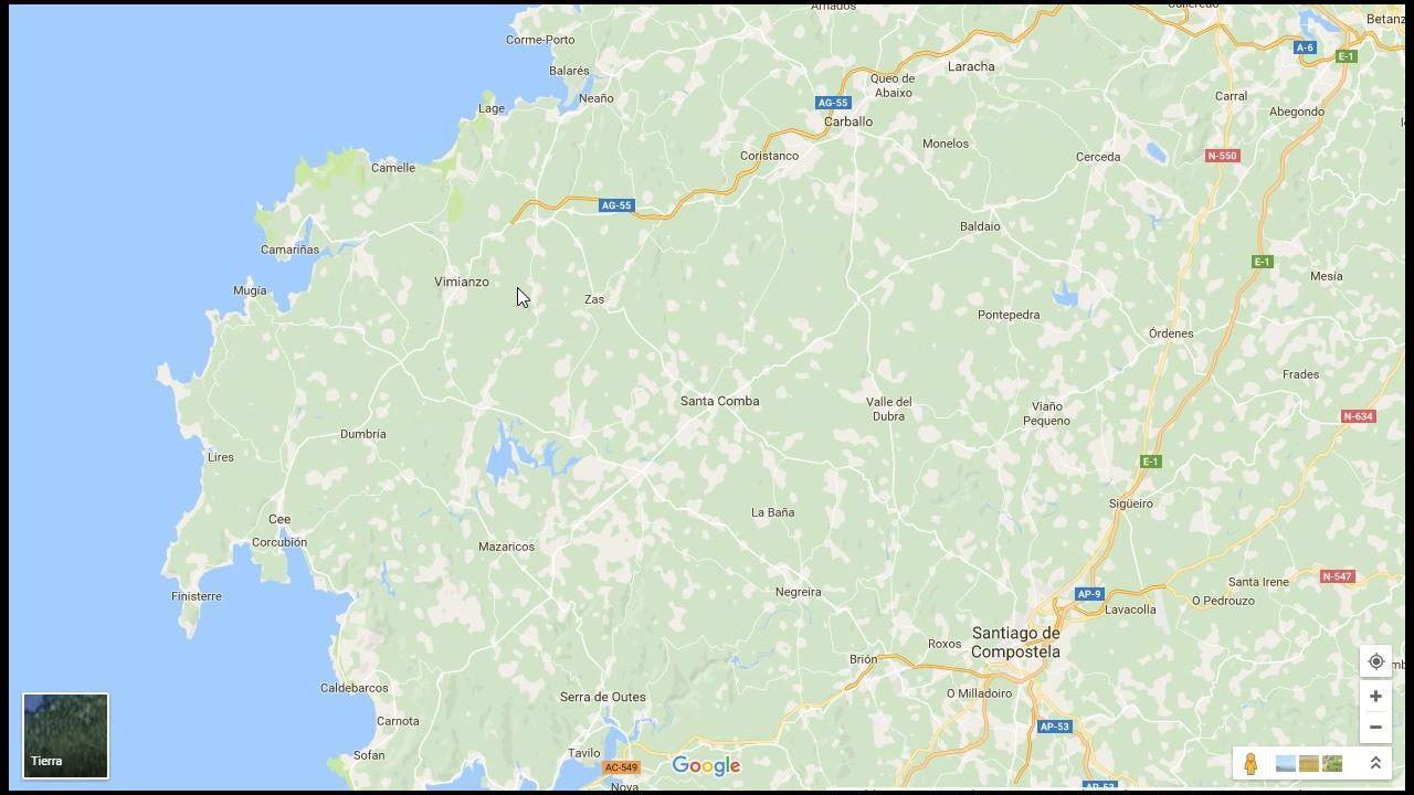 Mapa con erratas toponímicas