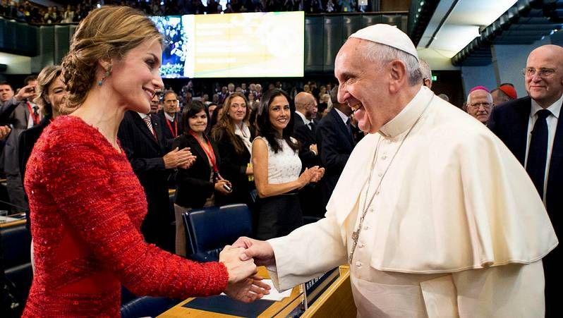 El papa y Letizia Ortiz, juntos en Roma
