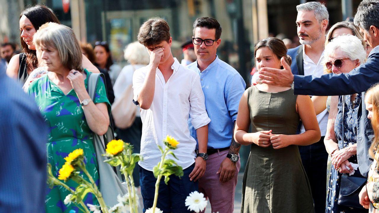 .Homenaje a las victimas del 17A en el primer aniversario de los atentados en La Rambla y Cambrils