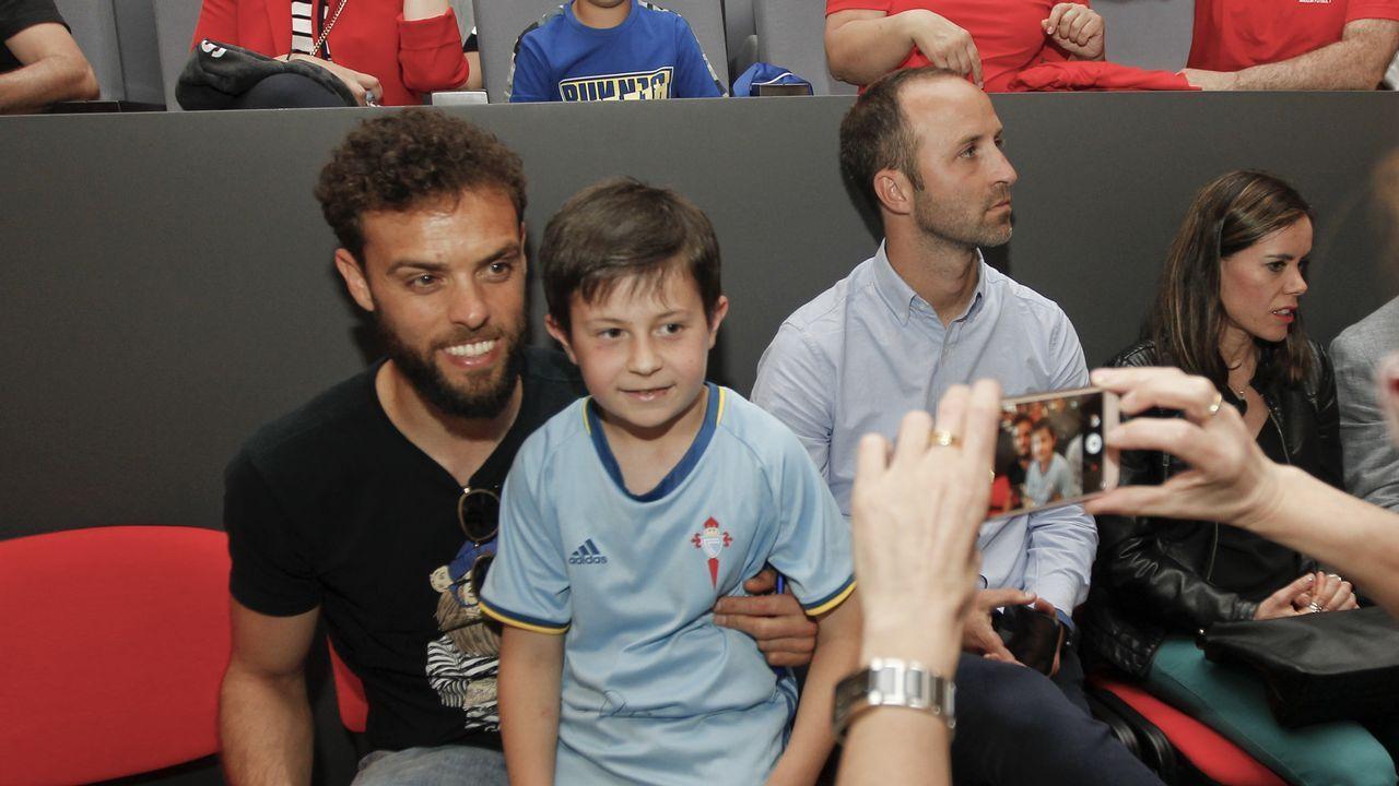 Sergio, en la presentación de la ArousaFútbol 7