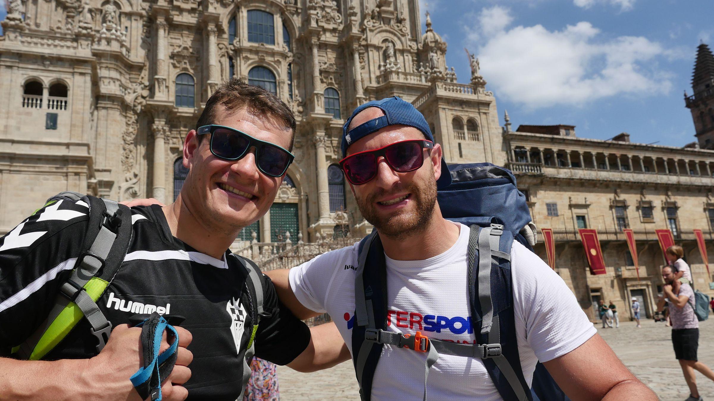 Estos dos peregrinos de Albacete estaban felices