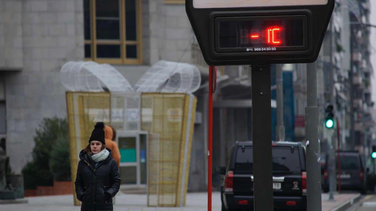Temperaturas bajo mínimos en Galicia.Imagen de la helada en Asturias