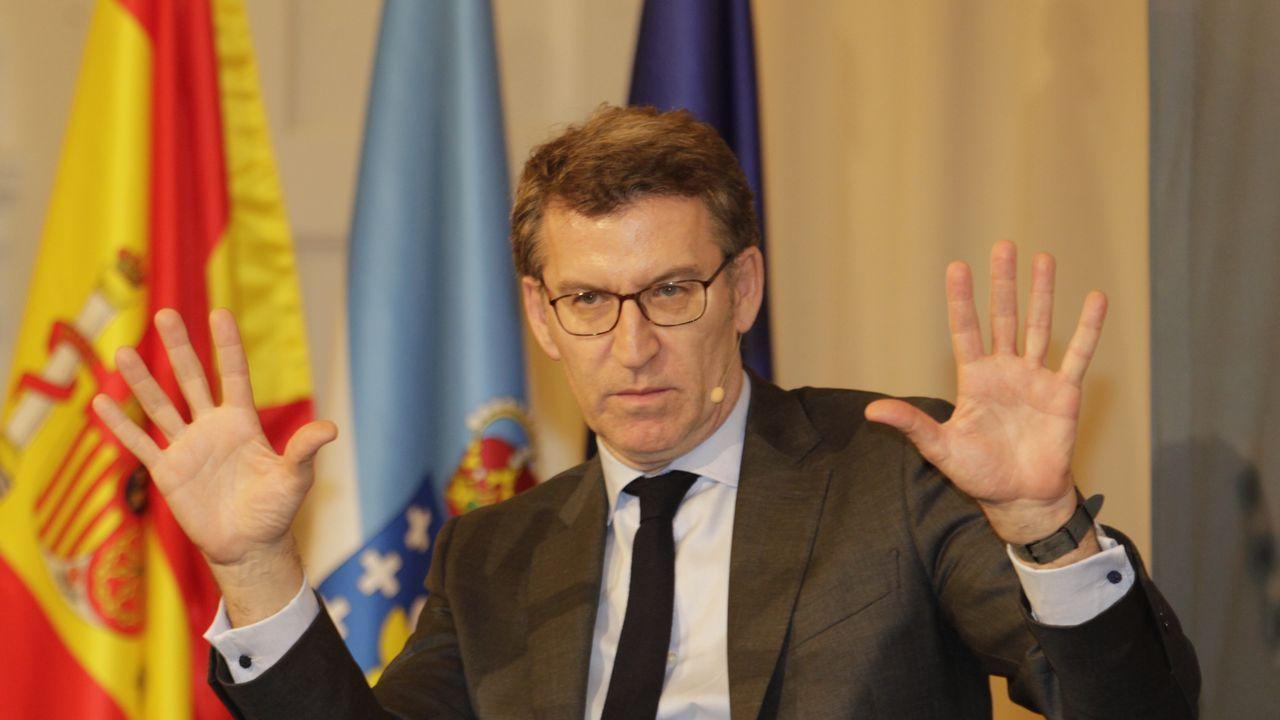 La diputada provincial Montse Lama abandona el PP de Ourense y suena para Ciudadanos.Albert Rivera, en un mitin de Ciudadanos en Pontevedra en el 2016