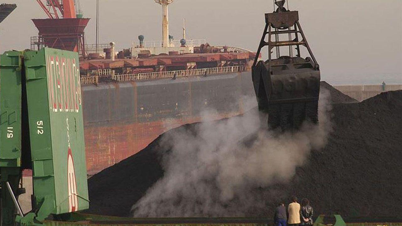 Un cargamento de carbón.