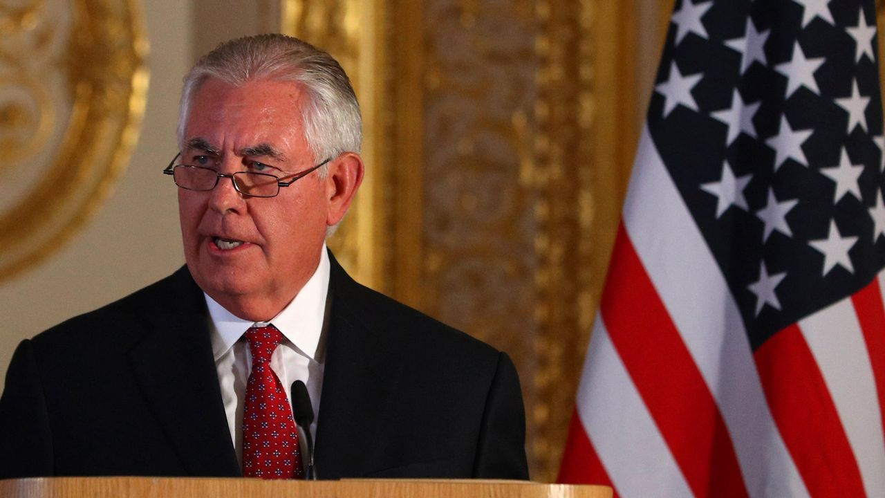 .El secretario de Estado de EE.UU., Rex Tillerson