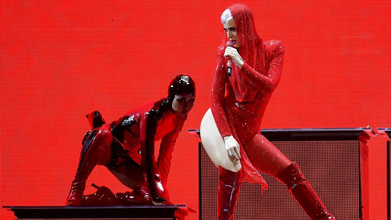 .Un momento del concierto de Katy Perry en Berlin