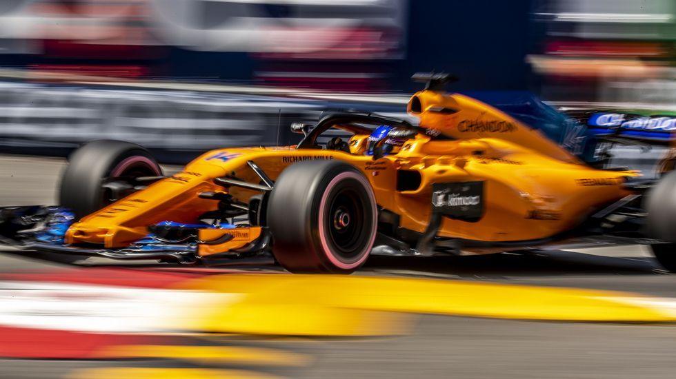.Fernando Alonso, en Mónaco