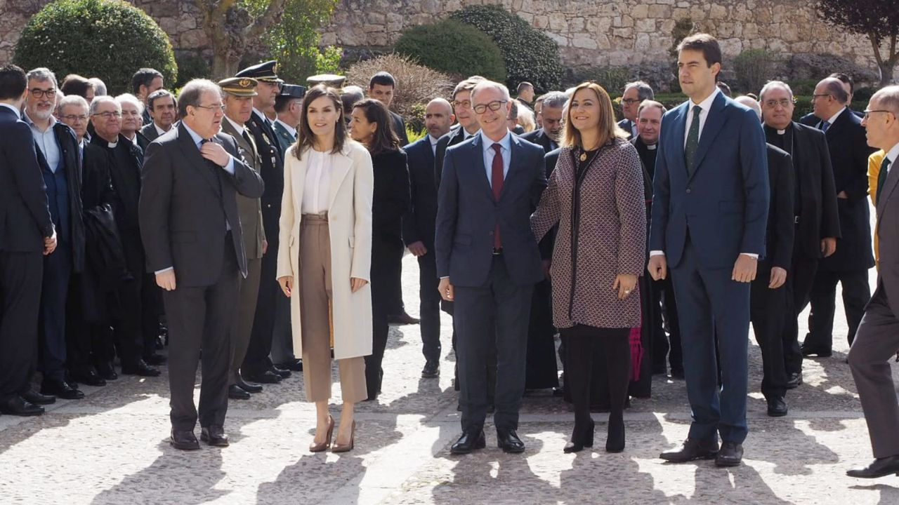 La Reina Letizia durante su visita a Lerma