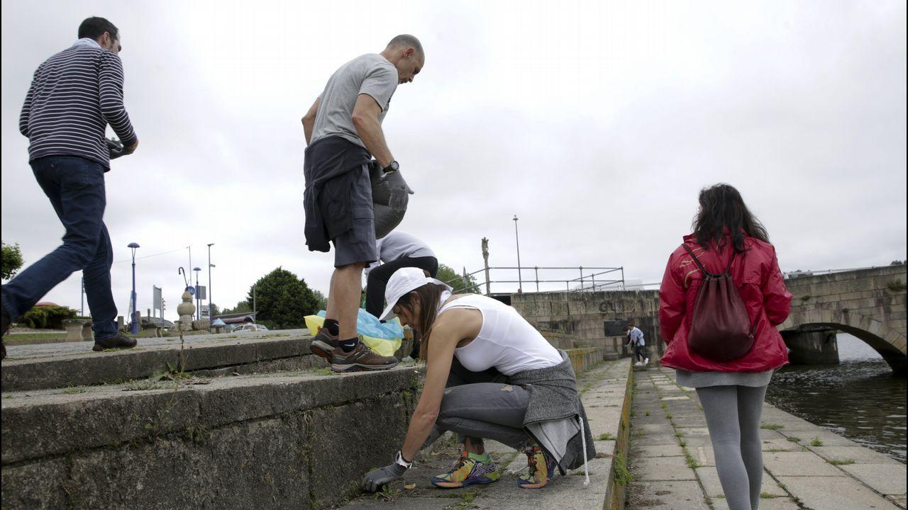 Voluntarios limpian 25 espacios naturales en Galicia.Carlos Martínez celebra un gol con la Real Sociedad