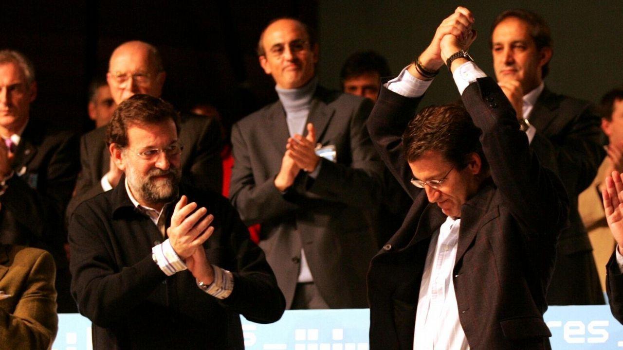 El día de la elección de Feijoo, Rajoy se mostró muy emocionado: «Probablemente no lo transmita, pero estoy profundamente emocionado... Estoy que me salgo después de lo que ha pasado».