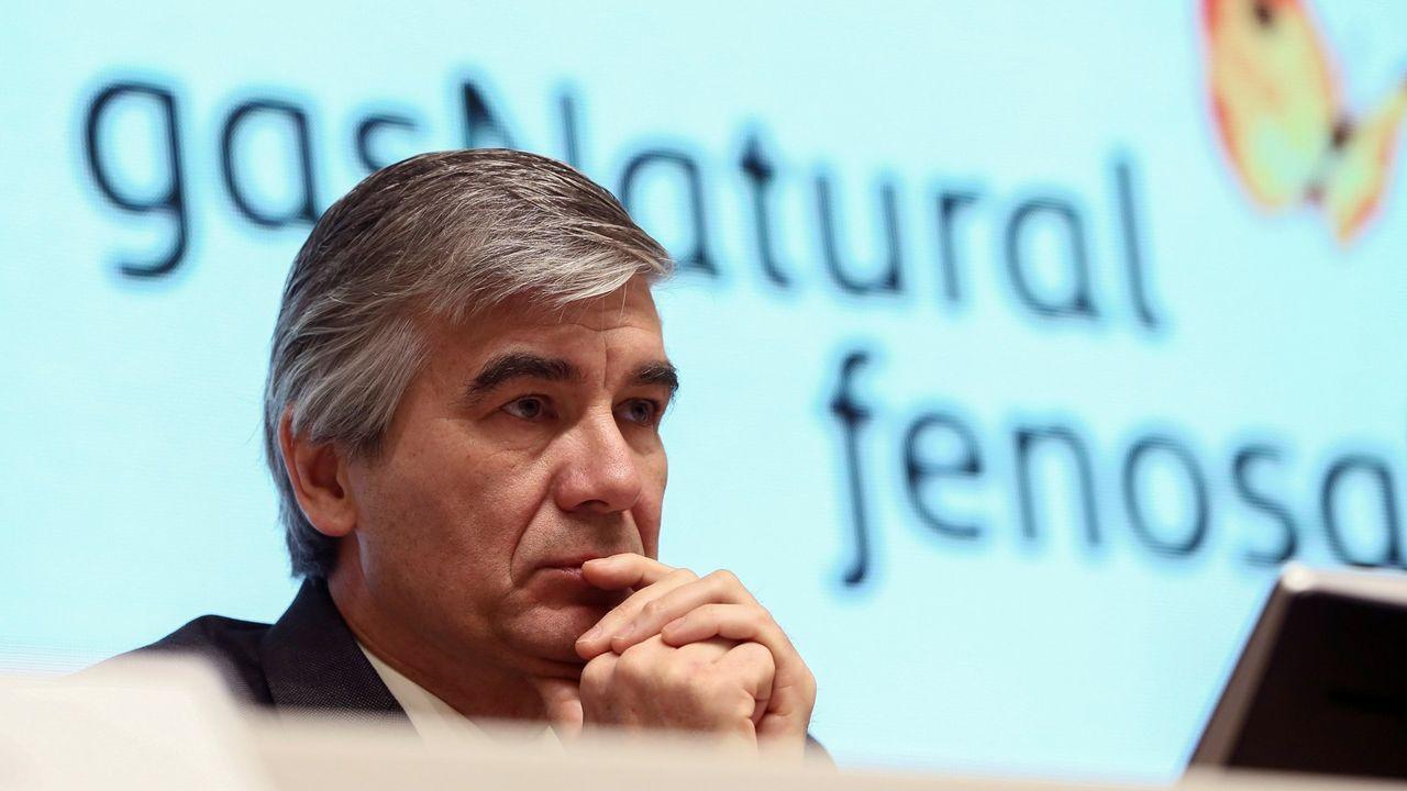José María Paz: «Hace falta el gasoducto para unir Galicia con la Meseta».Francisco Reynés, nuevo presidente de Gas Natural Fenosa