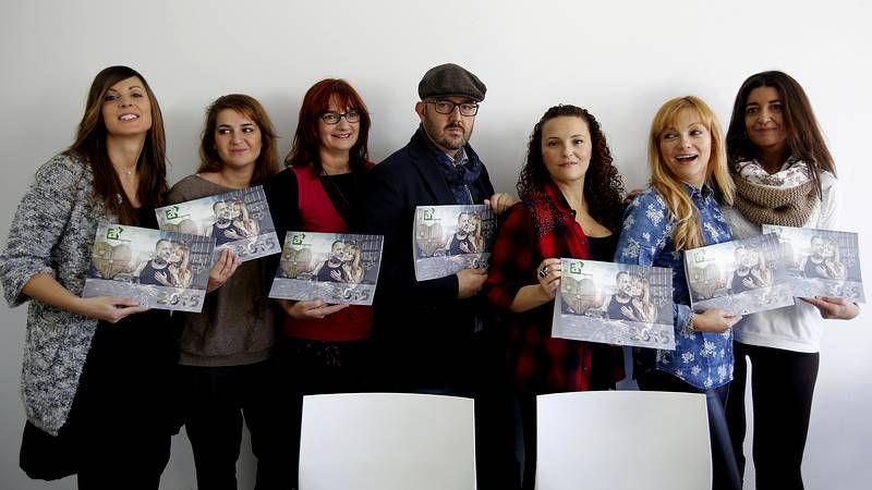 Los principales nominados a los Goya.Javier Gutiérrez visitó ayer a los alumnos de Aspanaes.