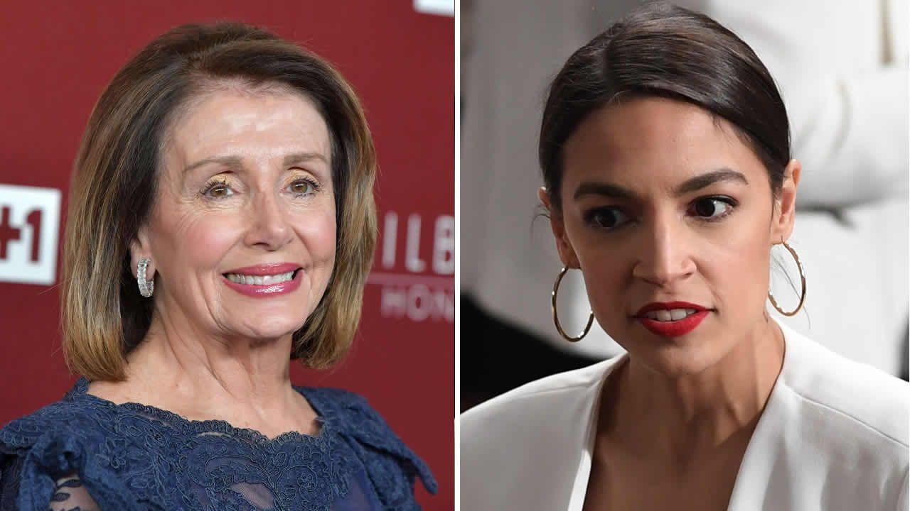 La presidenta de la Cámara de Representantes, Nancy Pelosi, y la congresista Alexandria Ocasio-Cortez, objetivos del detenido