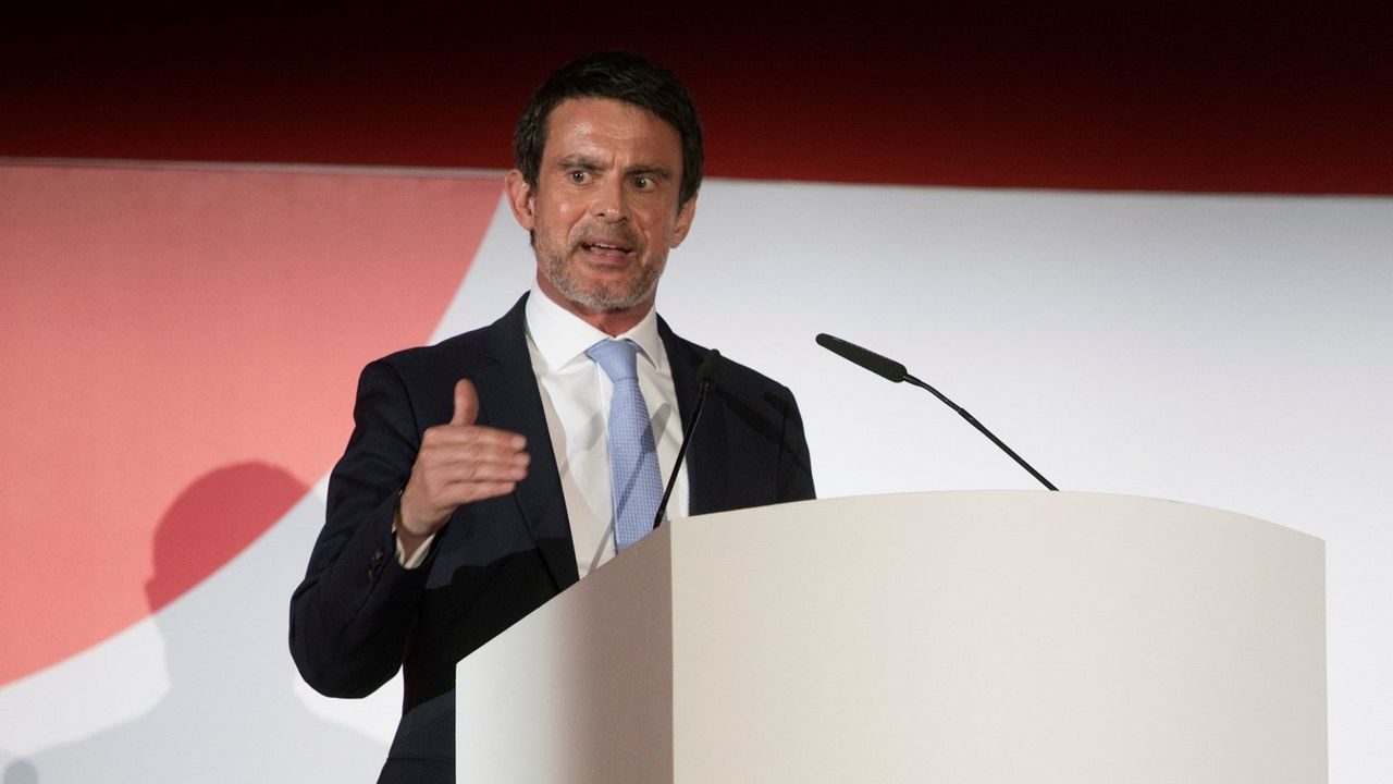 .Manuel Valls, en un acto este abril en Barcelona