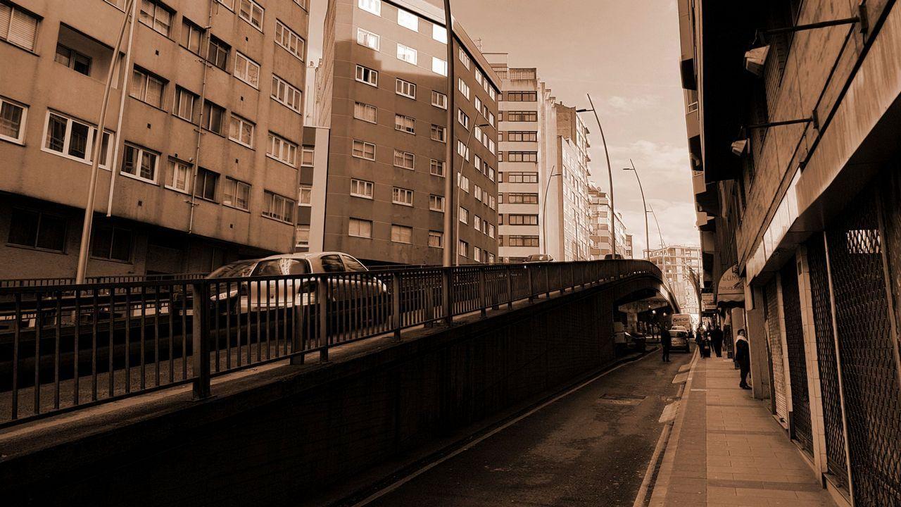 Recreación de la Ronda de Nelle en dirección a Cuatro Caminos, tras la demolición del viaducto