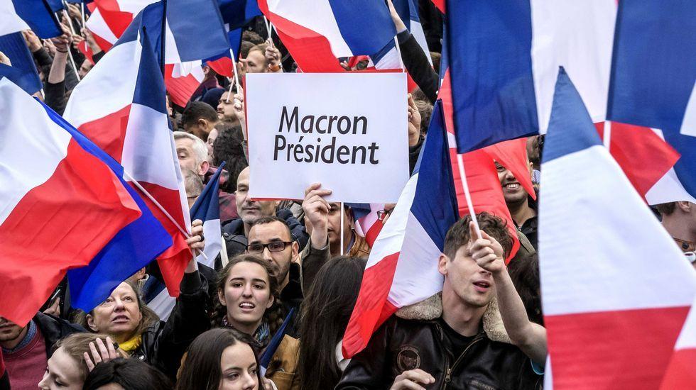 Francia celebra el triunfo de Macron.Nacho Vegas