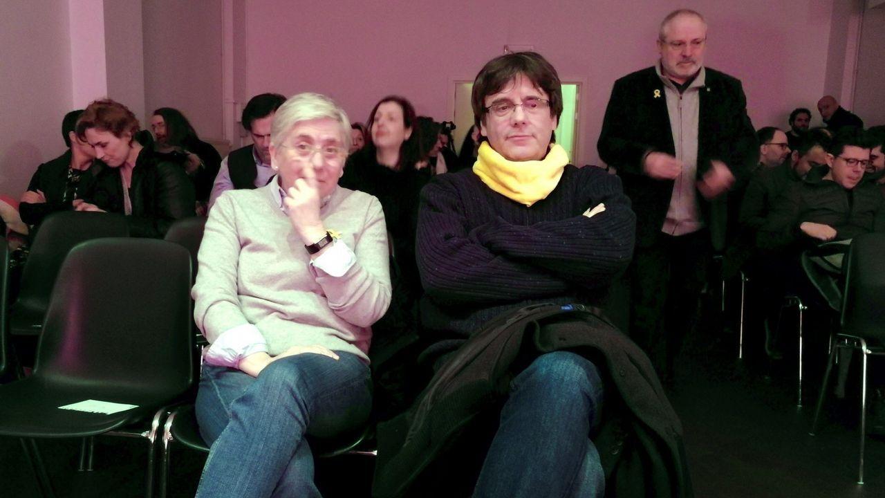 Ponsati y Puigdemont en Bruselas