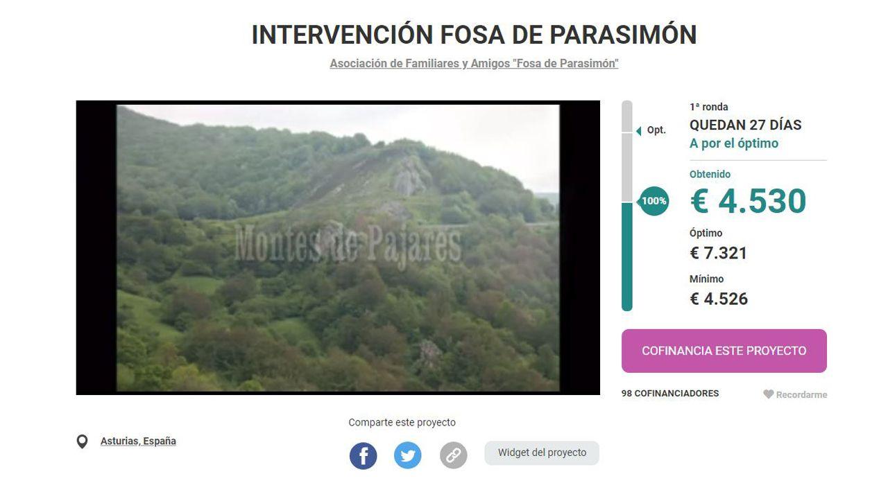 .El crowdfunding para excavar la fosa común de Parasimón, en Lena