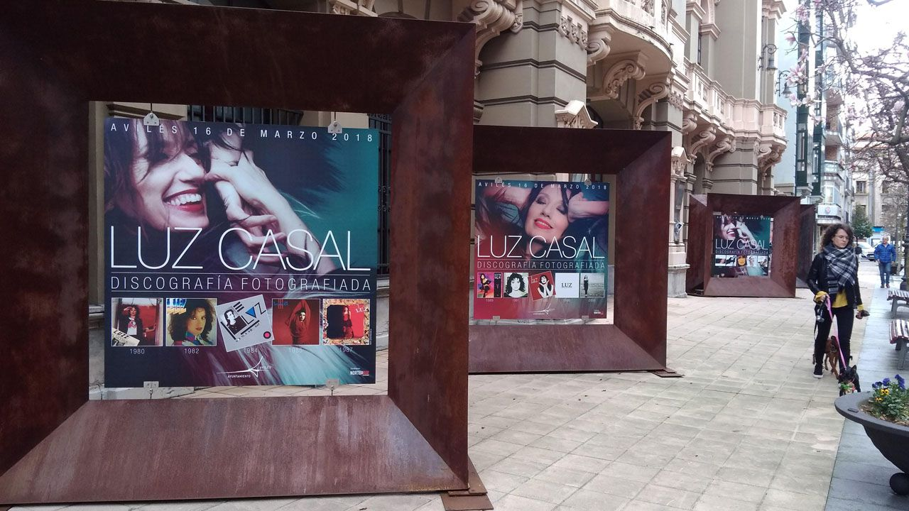 Exposición dedicada a Luz Casal en las calles de Avilés