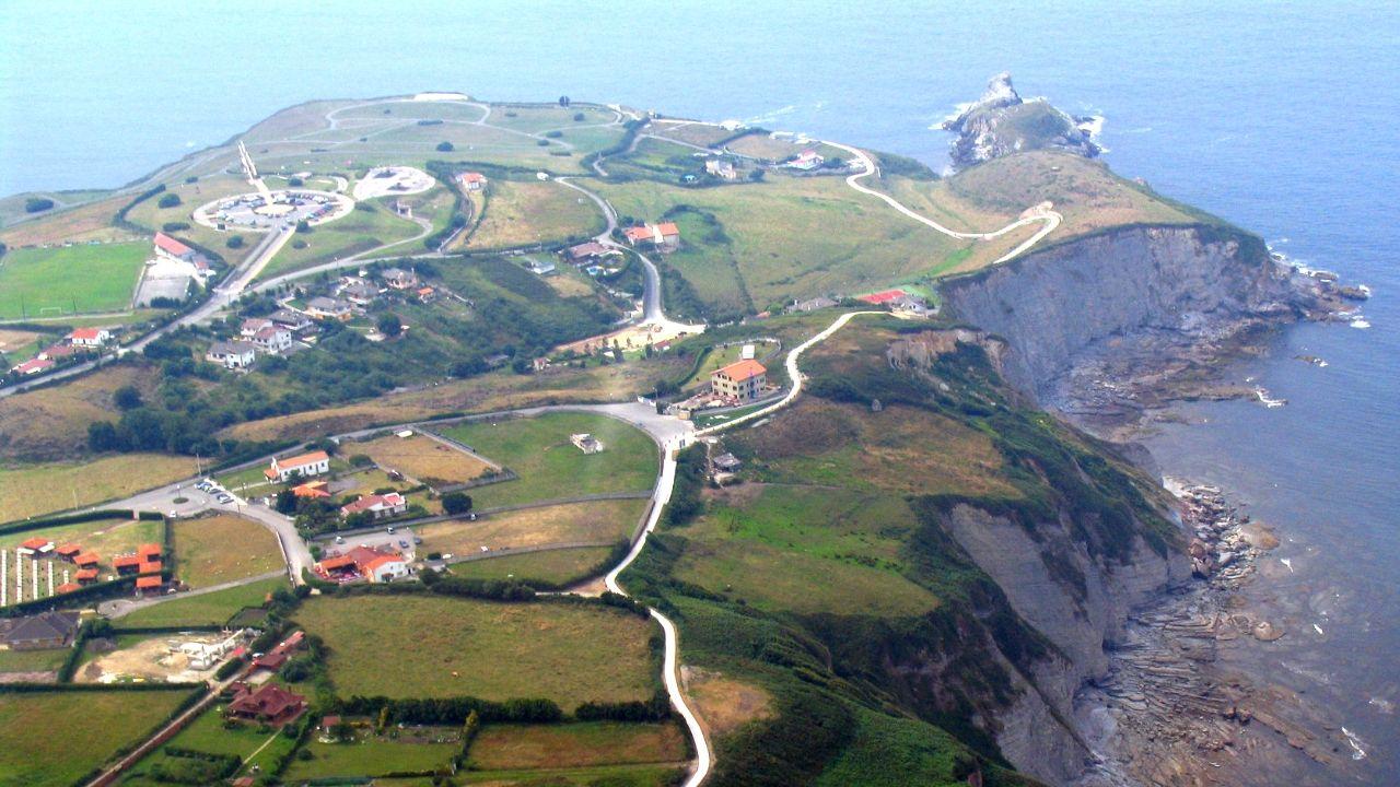 Vista aérea de La Providencia, enla costa de Gijón.Vista aérea de la zona del parque de La Providencia.